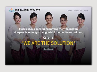 Umikamardiwajaya Home web company brand design homepage redesign web ui website website design webdesign