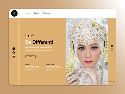 Aliya Wedding Services layout design makeup wedding minimal page design homepage webdesign