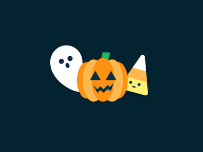 🎃Cutey Halloween illustration candy corn candy ghost spooky pumpkin cute