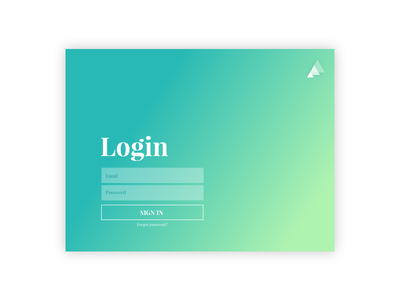Login Concept for an iPad ✨ gradient sign up register email triangles design ux ui signin sign in log in login