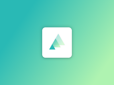 Trees App Icon 🌱 design eco-friendly app ios ui ux transparency gradient green trees icon app icon