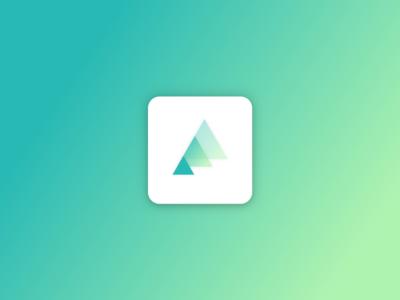 Trees App Icon 🌱 design eco-friendly app ios ui ux transparency gradient green trees icon app icon