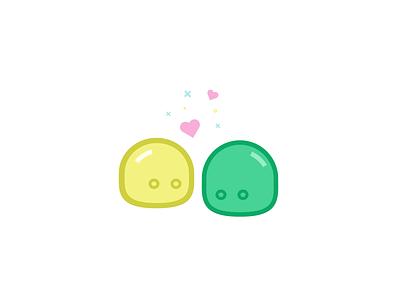 Little blobs 💕 love logo icon blobs happy identity illustration