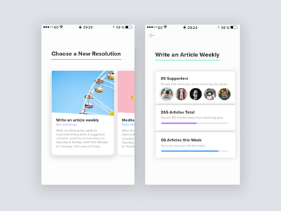 Resolution App V2  ios simple clean resolution resolutions app ui design interface ux ui