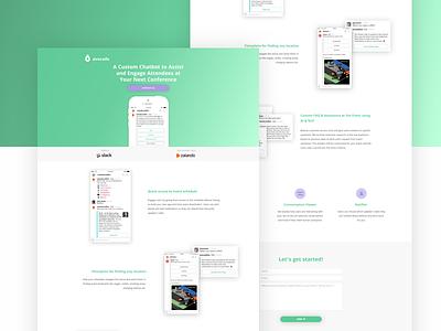 avocado bots 🥑🤖 website visual interface ui web ui web slackbot slack landing page avocado chatbots bots