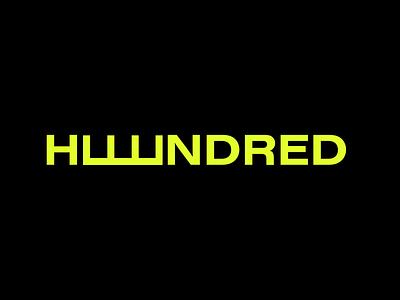 Huuundred - Logo Design workout app 100 hundred wordmark simple logo logo identity idenity branding logotype logo