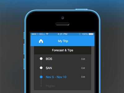 Top Nav Menu menu nav flights travel app top nav material mobile iphone app