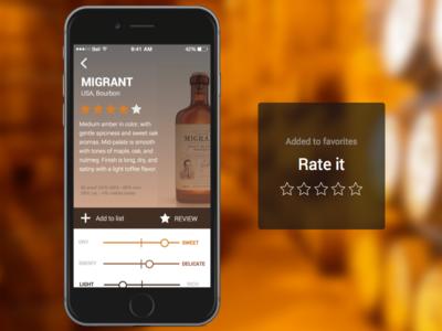 Whiskey rating app