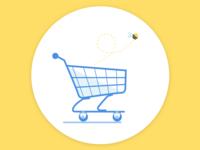 Empty Shopping Cart Illustration