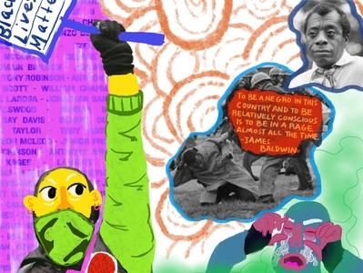 Protest Sign For Black Lives Matter Protest web illustrator minimal vector art flat typography website illustration collage
