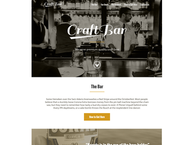 Crafbar webdesign