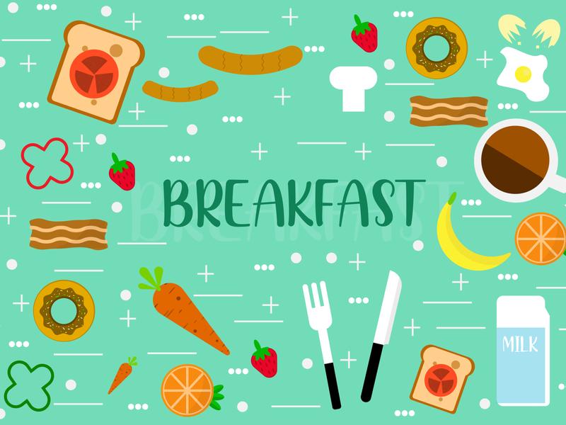Breakfast flat design logo ui vector illustration vector illustration design art design branding illustration art