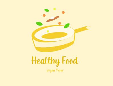 Healthy Food Logo Simple design art vector design branding app icon typography ux ui logo