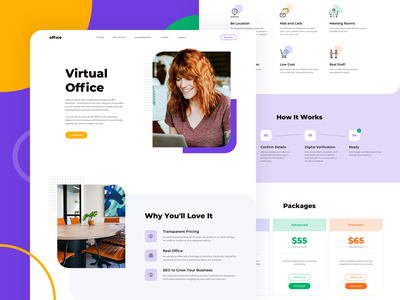 Office Home page clean ui minimalism e-commerce icons website webdesign web uxdesign uidesign ux ui landing page interface homepage design