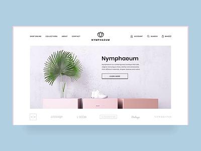 Nymphaeum - E-commerce Website website branding vector logo illustration ecommerce clean ui ui ux minimalism