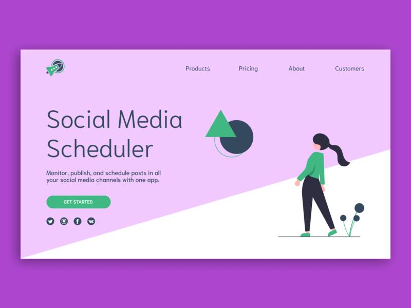Main website page/UI Concept concept webdesign website ui design