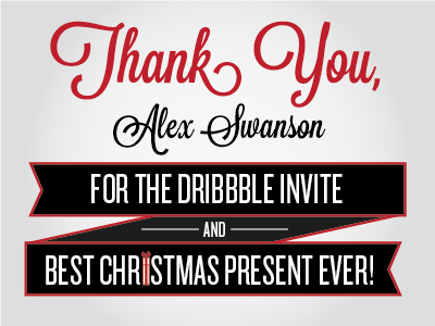 Thank you dribbble 01