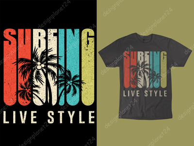 Surfing T-shirt Design. vector art surface design photoshop surf illustration surf board surf logo surf design surf art surfing surf tshirt design t shirt design merch by amazon shirts merch by amazon branding brand design logodesign logo illustration design