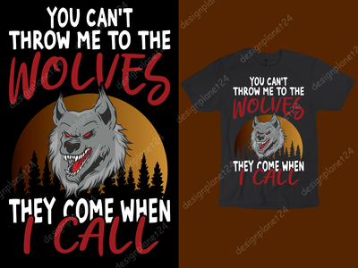 Wolves T-shirt Design. animals wolf wolves t shirt design vector reviews t shirt design vector ux ui vector free tshirt design graphic design logo logodesign branding brand design tshirt design t shirt design merch by amazon shirts merch by amazon illustration design