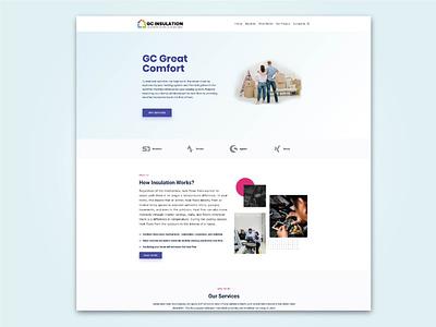 GC Instulation and Tradeworks ui design graphic design webdesign