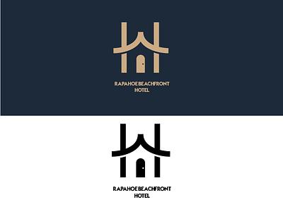 Rapahoe Beachfront // Logo Design illustrator flat minimal icon vector illustration logo design branding