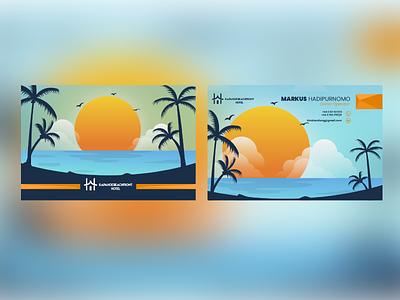 Rapahoe Beachfront // Business Card vector minimal illustration design branding