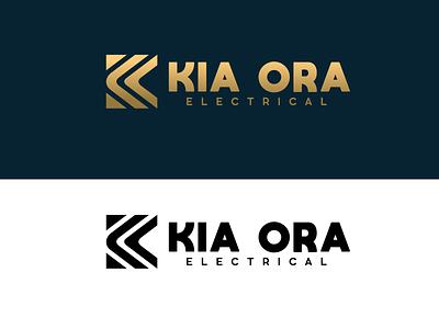 Kia Ora Electrical // Logo Design illustrator vector logo minimal illustration design branding