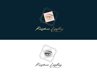 Kosmic Lashes // Logo Design icon vector minimal logo design branding