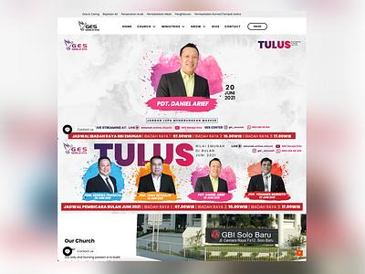GBI Emunah Solo Baru / Website Design design ux ui branding
