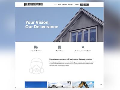 Grey Removals Ltd / Website Design ux ui logo design wordpress website design branding graphic design