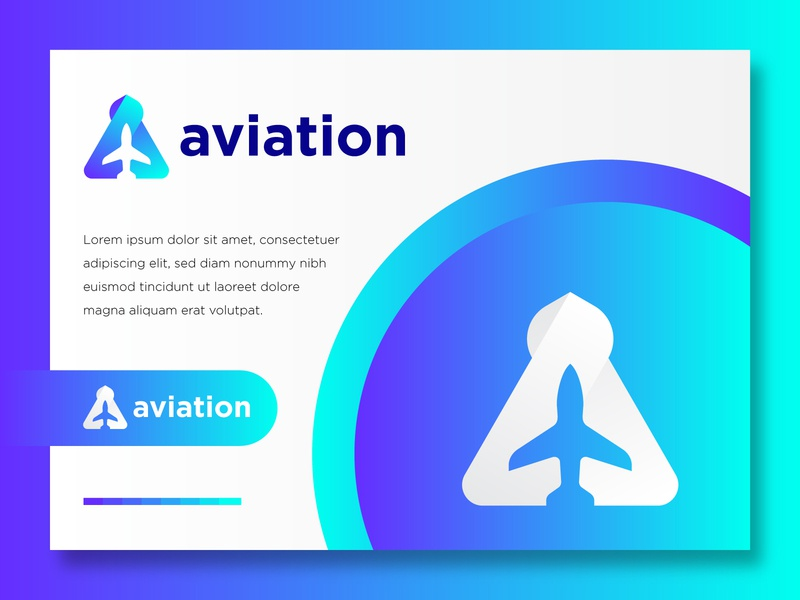 A for aviation logo transport icon air jet logo shape wing airplane illustration plane symbol sign aviation vector sky aircraft transportation fly blue travel