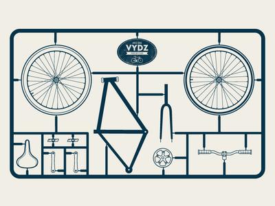 Bicycle model kit design for packaging