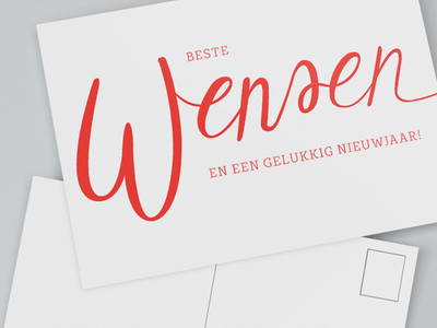 Best wishes and happy new year card design card lettering handletter handlettering new year x-mas