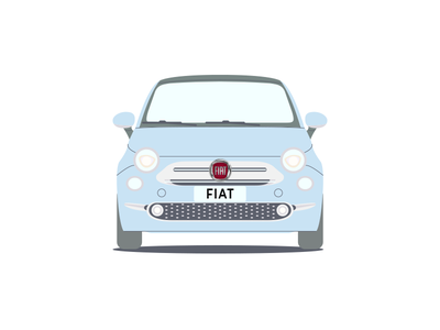 Fiat 500 cars repeating pattern car fiat
