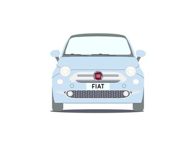 Fiat 500 cars repeating pattern car fiat