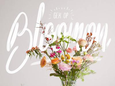 Bloomon promotion handlettered illustration lettering shadow bloomon handlettering flowers