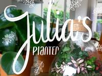 Julia planten promotion lettering