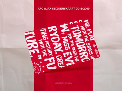 Concept design AFC Ajax seizoenskaart 2018 brushtype typografie mockup soccer ajax