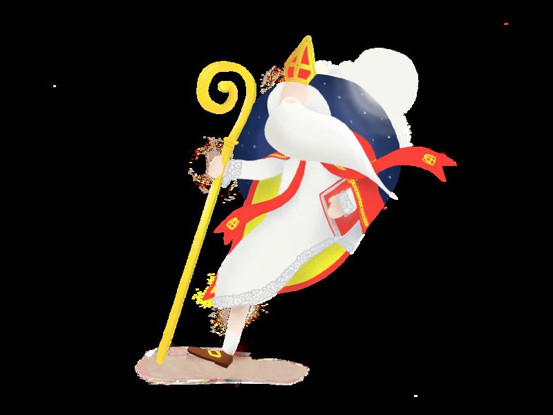 Sinterklaas is coming to town drawing illustrator illustration character design procreate character sinterklaas