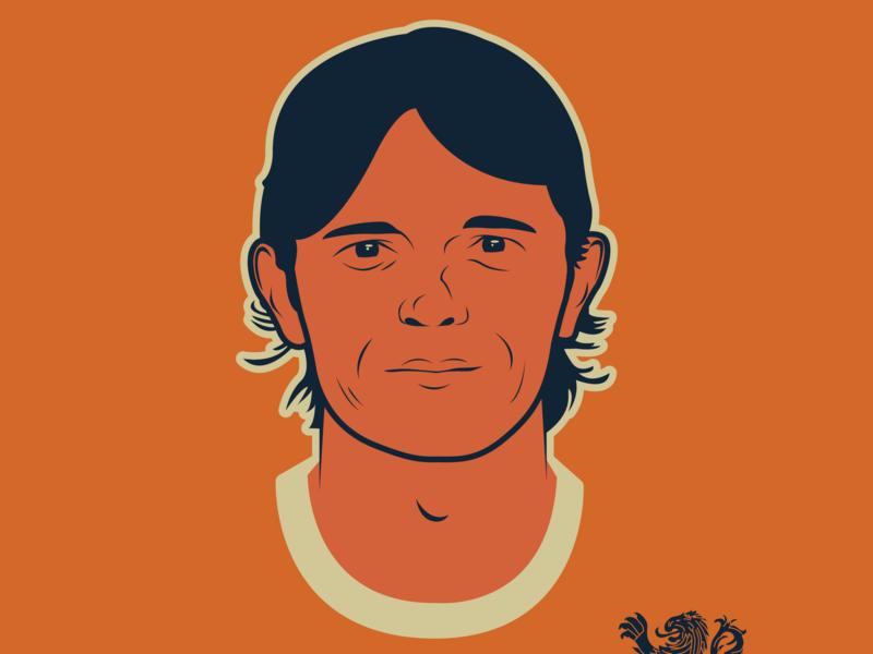 Oranjehelden Phillip Cocu illustration vector portrait vectorart illustrator heroes oranje dutch football soccer