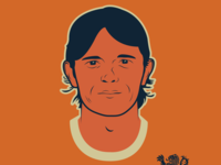 Oranjehelden Phillip Cocu illustration vector portrait vectorart illustrator heroes oranje dutch football soccer