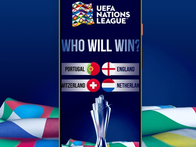 UEFA NATIONS LEAGUE trophy football social media banner social media banner design banner ui design nations league uefa