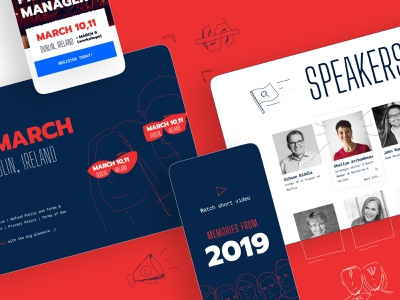 INDUSTRY | Conference landing page landing page conference website workshops product conference drawingart ticket promotional design speakers product manager event product