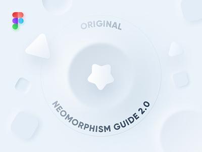 Neomorphism Guide 2.0 | Original 🔥 free ui kit ui system figma ui kit style guide neomorphism guide guide system freebie guide guideline skeuomorph neomorphism