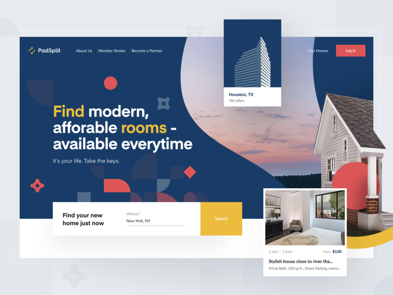 PadSplit – Landing page | Hero section