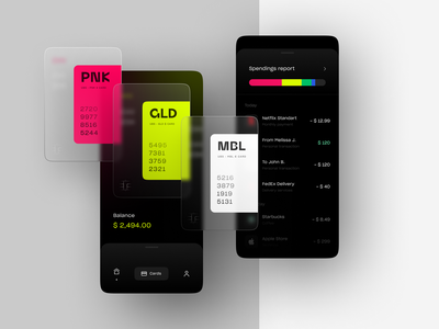 UBS Banking app | Balance & activity neobank mobile banking banking app bank financial report spendings balance transactions mobile application design system credit card finance app financial finance fintech branding fintech app fintech