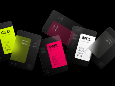 Credit Cards Experiments 🍬 virtual card online banking financial visual identity credit card fintech branding fintech finance design branding