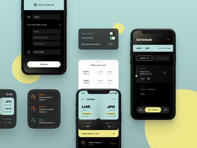 WeFly | Flight Planner 🧳 saas app product design mobile application flight manager time management cards ui counter flight planner flight card app ui flight app schedule app watch ui planner app mobile app ios app