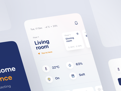 Smart home app 🤖 smart devices climate control climate manager dashboard app ui smart home application smart house smart home mobile app saas app product design ios app smart home app