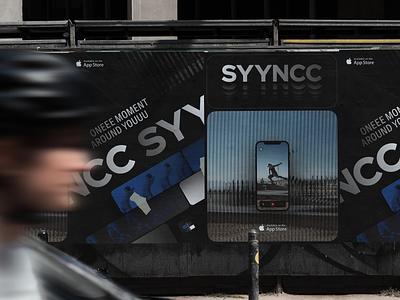 SYYNCC | street posters saas app saas branding video editor video app poster art app identity billboard visual identity poster branding